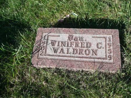 WALDRON, WINIFRED C - Palo Alto County, Iowa | WINIFRED C WALDRON