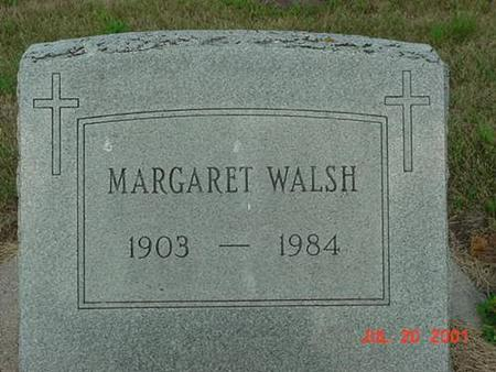 WALSH, MARGARET - Palo Alto County, Iowa   MARGARET WALSH