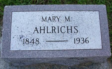 AHLRICHS, MARY M. - Plymouth County, Iowa   MARY M. AHLRICHS