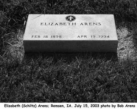 SCHILTZ ARENS, ELIZABETH - Plymouth County, Iowa | ELIZABETH SCHILTZ ARENS