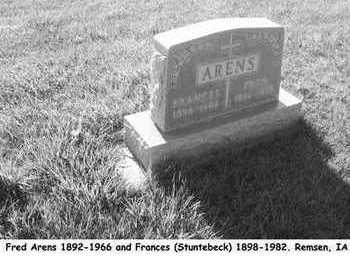 ARENS, FRANCES - Plymouth County, Iowa | FRANCES ARENS