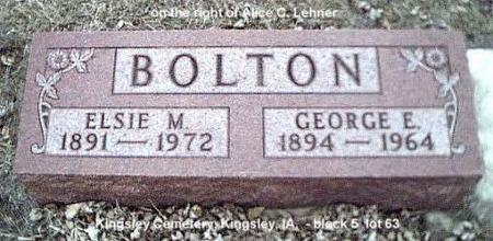 BOLTON, GEORGE & ELSIE - Plymouth County, Iowa | GEORGE & ELSIE BOLTON