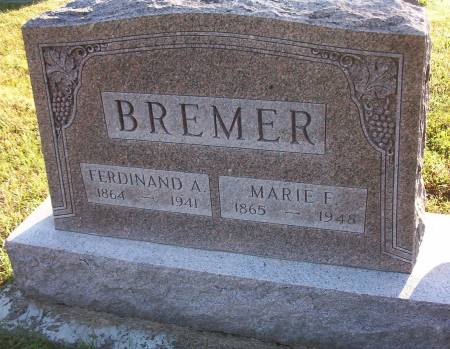BREMER, MARIE F. - Plymouth County, Iowa | MARIE F. BREMER