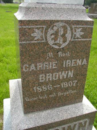 BROWN, CARRIE IRENA - Plymouth County, Iowa | CARRIE IRENA BROWN