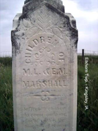 MARSHALL, CHILDREN OF - Plymouth County, Iowa | CHILDREN OF MARSHALL