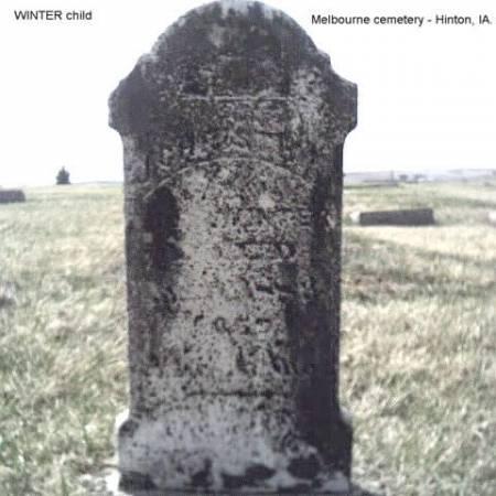 WINTER, CHILD - Plymouth County, Iowa | CHILD WINTER