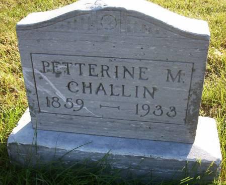CHALLIN, PETTERINE M. - Plymouth County, Iowa | PETTERINE M. CHALLIN