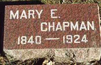 CHAPMAN, MARY ELIZABETH - Plymouth County, Iowa | MARY ELIZABETH CHAPMAN