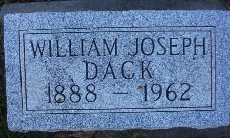 DACK, WILLIAM JOSEPH - Plymouth County, Iowa | WILLIAM JOSEPH DACK