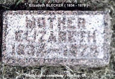 BLECKER, ELIZABETH - Plymouth County, Iowa | ELIZABETH BLECKER