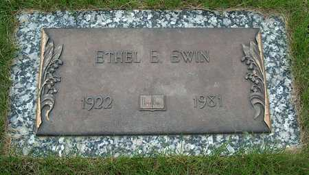 EWIN, ETHEL E. - Plymouth County, Iowa | ETHEL E. EWIN