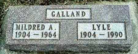 CASLER GALLAND, MILDRED ALICE - Plymouth County, Iowa | MILDRED ALICE CASLER GALLAND