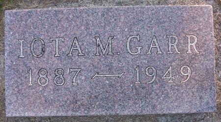 GARR, IOTA M. - Plymouth County, Iowa | IOTA M. GARR