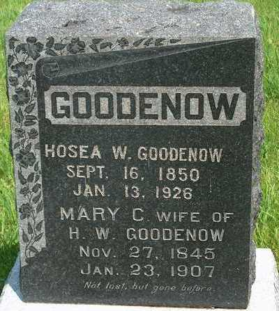 GOODENOW, HOSEA W. - Plymouth County, Iowa | HOSEA W. GOODENOW
