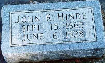 HINDE, JOHN ROBERT - Plymouth County, Iowa | JOHN ROBERT HINDE