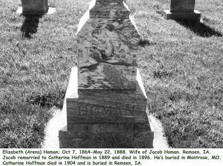 ARENS HOMAN, ELIZABETH - Plymouth County, Iowa | ELIZABETH ARENS HOMAN