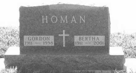HOMAN, BERTHA - Plymouth County, Iowa | BERTHA HOMAN
