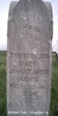 TOOTHMAN, JOHN - Plymouth County, Iowa | JOHN TOOTHMAN