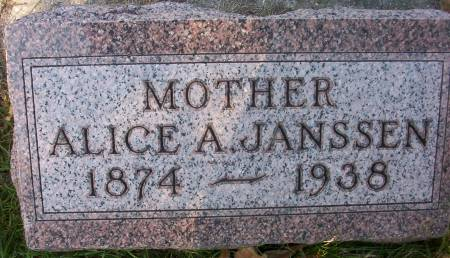 JANSSEN, ALICE A. - Plymouth County, Iowa | ALICE A. JANSSEN