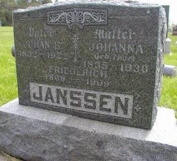 JANSSEN, FRIEDERICH - Plymouth County, Iowa | FRIEDERICH JANSSEN