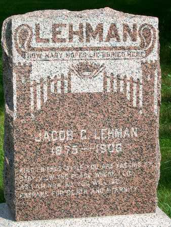 LEHMAN, JACOB C. - Plymouth County, Iowa | JACOB C. LEHMAN