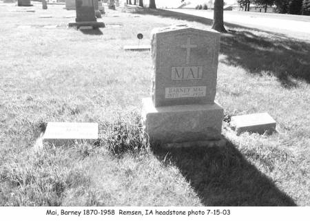 MAI, BARNEY - Plymouth County, Iowa | BARNEY MAI
