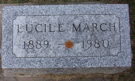 MARCH, LUCILE - Plymouth County, Iowa | LUCILE MARCH