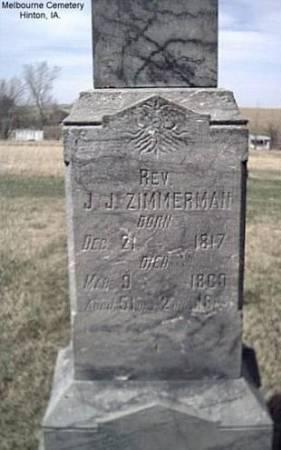 ZIMMERMAN, REV. J. J. - Plymouth County, Iowa | REV. J. J. ZIMMERMAN