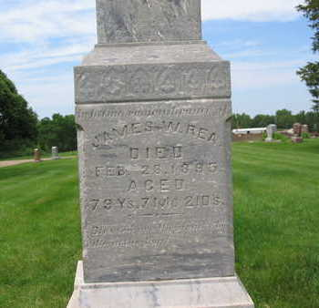 REA, JAMES WILSON - Plymouth County, Iowa   JAMES WILSON REA