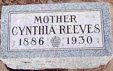 REEVES, CYNTHIA - Plymouth County, Iowa   CYNTHIA REEVES