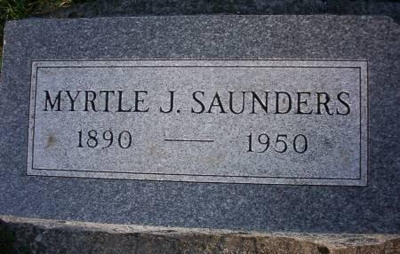 SAUNDERS, MYRTLE J. - Plymouth County, Iowa | MYRTLE J. SAUNDERS