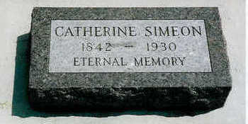SIMEON, CATHERINE - Plymouth County, Iowa | CATHERINE SIMEON