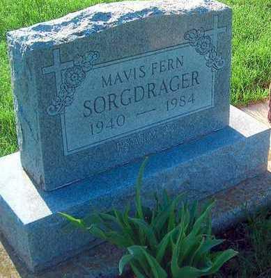 SORGDRAGER, MAVIS FERN - Plymouth County, Iowa | MAVIS FERN SORGDRAGER