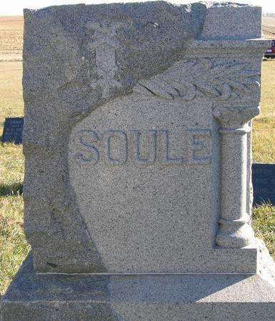 SOULE, FAMILY STONE - Plymouth County, Iowa   FAMILY STONE SOULE