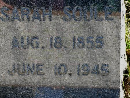SOULE, SARAH - Plymouth County, Iowa | SARAH SOULE