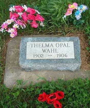 WAHL, THELMA OPAL - Plymouth County, Iowa | THELMA OPAL WAHL