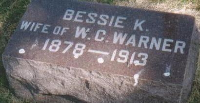 KENNEDY WARNER, BESSIE - Plymouth County, Iowa | BESSIE KENNEDY WARNER