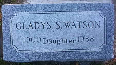 WATSON, GLADYS S. - Plymouth County, Iowa   GLADYS S. WATSON
