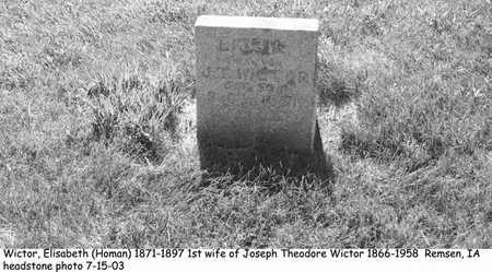 HOMAN WICTOR, ELISABETH - Plymouth County, Iowa | ELISABETH HOMAN WICTOR