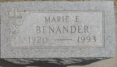 BENANDER, MARIE - Pocahontas County, Iowa | MARIE BENANDER