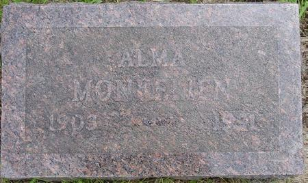 MONKELIEN, ALMA - Pocahontas County, Iowa   ALMA MONKELIEN