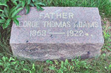 ADAMS, GEORGE THOMAS - Polk County, Iowa | GEORGE THOMAS ADAMS
