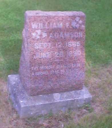 ADAMSON, WILLIAM F. - Polk County, Iowa   WILLIAM F. ADAMSON