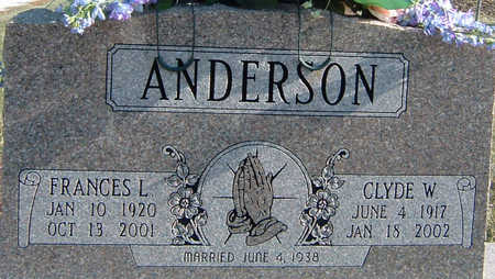 ANDERSON, FRANCES - Polk County, Iowa | FRANCES ANDERSON