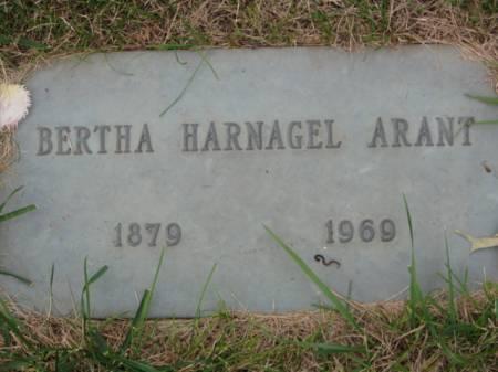 HARNAGEL ARANT, BERTHA - Polk County, Iowa   BERTHA HARNAGEL ARANT