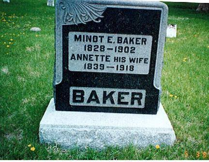 BAKER,  MINOT E AND ANNETTE - Polk County, Iowa |  MINOT E AND ANNETTE BAKER