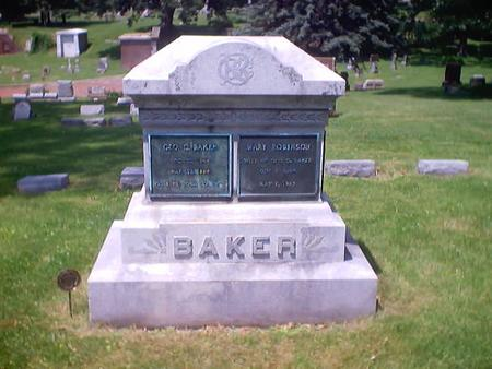 ROBINSON BAKER, MARY - Polk County, Iowa | MARY ROBINSON BAKER