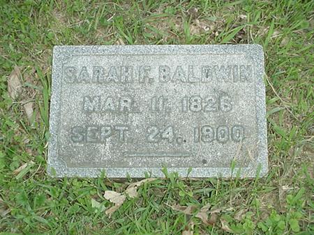 BALDWIN, SARAH F. - Polk County, Iowa | SARAH F. BALDWIN