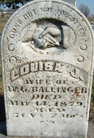 BALLINGER, LOUISA - Polk County, Iowa | LOUISA BALLINGER