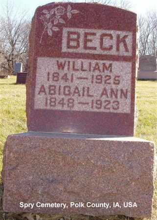 BECK, WILLIAM - Polk County, Iowa | WILLIAM BECK